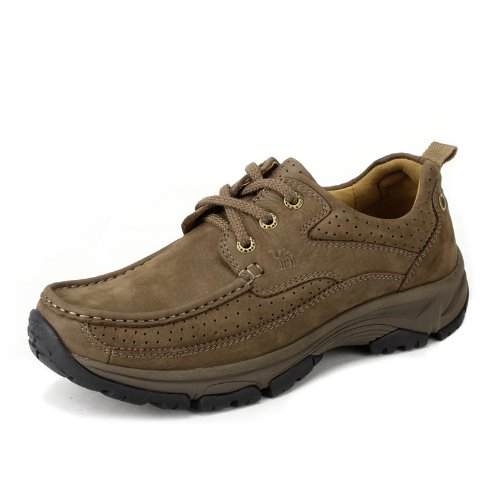 Camel 骆驼 磨砂牛皮 日常休闲鞋 防滑耐磨 经典男鞋 低帮鞋 2308002    亚马逊物流 支持货到付款