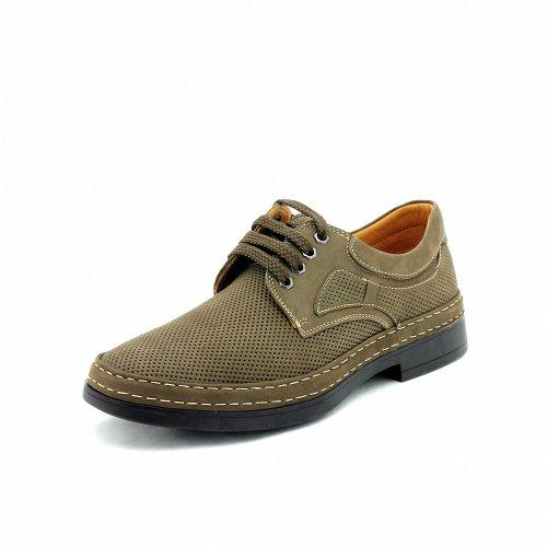 TIMOTHY&CO 迪迈奇 磨砂皮系带男式商务休闲鞋TD01211-1B