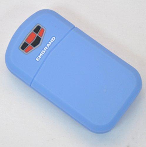 tak 泰骑 高级硅胶汽车钥匙包/套 吉利帝豪专用 浅蓝色图片