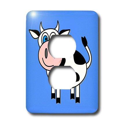 商品3drose llc lsp_6083_6 happy cow boy 2 plug outlet cover图片