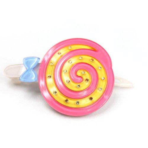 e-aki伊爱琦 百事达甜蜜微笑超可爱棒棒糖发夹横夹 粉色(进)图片