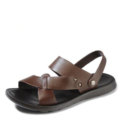 Camel 骆驼 新版德国 男鞋2014夏季男士真皮凉鞋休闲皮凉鞋沙滩鞋日常休闲鞋