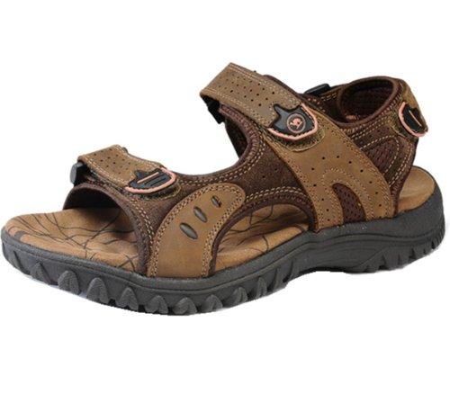 Camel 骆驼牌 休闲凉鞋款 独特风尚 户外涉溪款 车缝牢固 柔软橡胶 上等牛皮 休闲凉鞋 男鞋