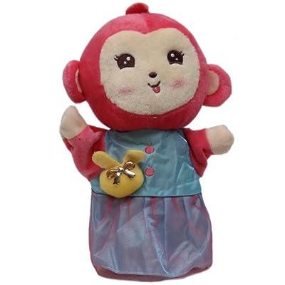正版可爱兔子,小象,小猴手偶玩具