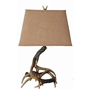 美式乡村创意鹿角台灯