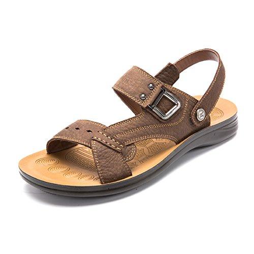 MULINSEN 木林森 男凉鞋真皮沙滩鞋男正品透气男鞋夏季凉拖鞋男潮流凉鞋子