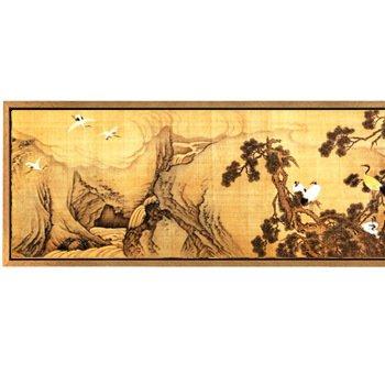 腾画 卧室装饰画 客厅餐厅玄关家居花卉动物画 壁画挂画沙发背景 l型