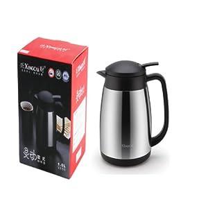 xingcai 兴财 欧式咖啡壶 1.0l 真空保温壶 保温瓶 不锈钢内胆 本色