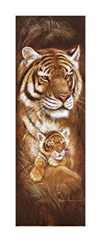 30x91cm 老虎装饰画|猫科动物风格|猫科动物装饰画|野生动物幼崽|老虎