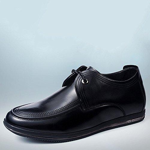 Gog 高哥 秋季增高鞋男式6cm商务休闲鞋皮鞋男士隐形内增高男鞋