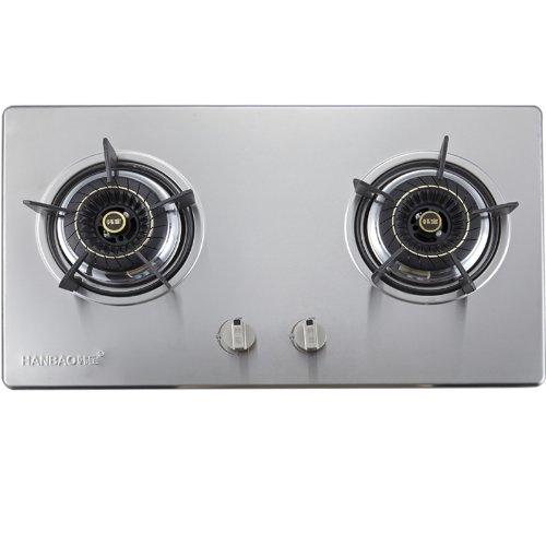 HANBAO 韩宝TB.L22 嵌入式 台式双炉头燃气灶 煤气炉 双眼燃气灶具 (天然气)-图片