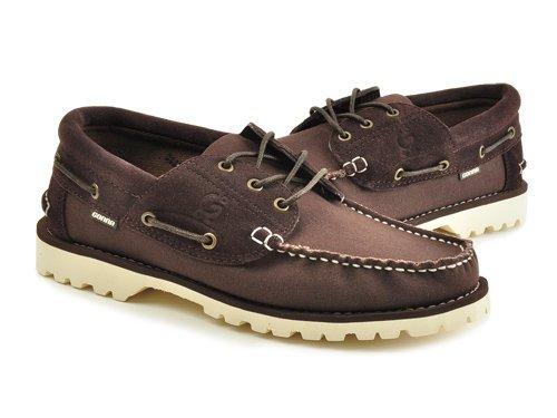 Gonna 高乐 意式车线缝边简洁舒适帆船鞋 男 男帆布鞋 C3525-3 brown