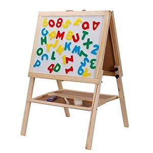 mutong 木童 手工/涂鸦玩具 儿童画板画架 木制磁性写字板涂鸦板 送