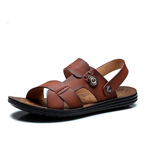 2015新款新品夏季男士凉鞋真皮露趾沙滩鞋男休闲皮凉鞋凉拖鞋牛皮