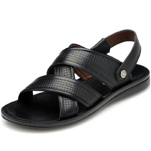 Fuguiniao 富贵鸟 新款真皮沙滩鞋 男式夏季男士皮凉鞋潮男凉拖鞋C497031