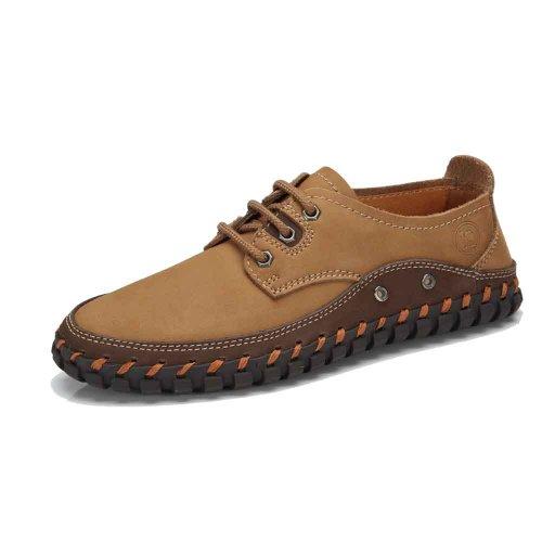 骆驼牌 男鞋正品 2014新款真皮头层牛皮休闲鞋 低帮鞋 W412329002
