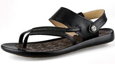 串珠坡跟鞋松紧带女式凉鞋