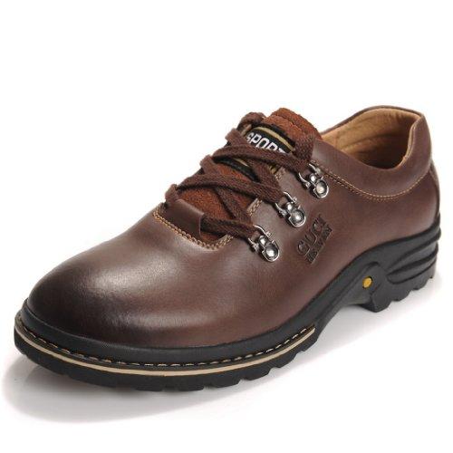 古奇天伦 夏季休闲男鞋 男士商务皮鞋 真皮正品透气鞋子新款男鞋潮流休闲鞋大头鞋包邮
