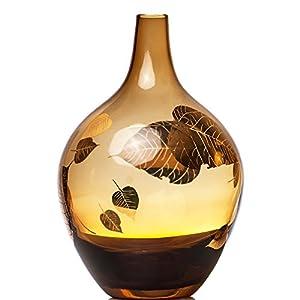 淘当当 复古 巴洛克风格 俄罗斯艺术琥珀22k金玻璃花瓶 欧式高端时尚