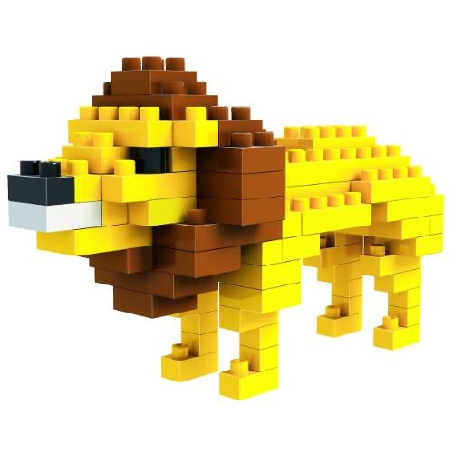 loz 俐智 德国 创意拼装 乐高式钻石颗粒积木 动物公仔系列 狮子 9317