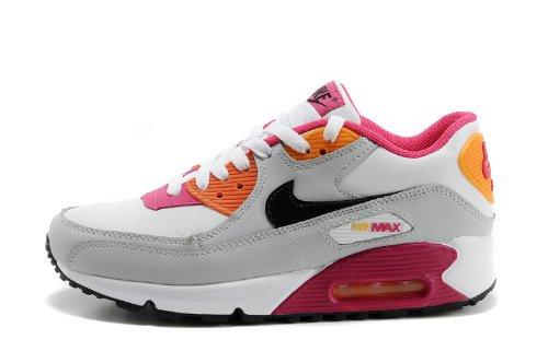 Nike 耐克 AIR MAX 90 女子气垫休闲运动鞋 白灰桃红 345017-113