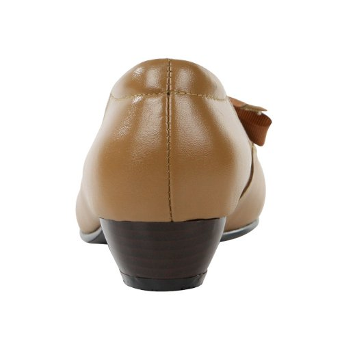 2012年新款薇莱妮凯头层牛皮真皮女鞋粗跟尖头浅口低