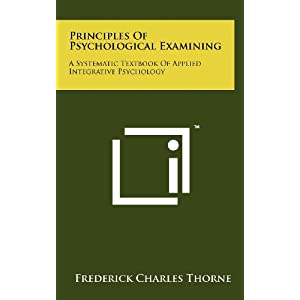 les of Psychological Examining A Systematic Textbook of Applied
