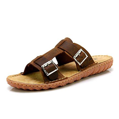 Z.SUO走索 夏季韩版 拖鞋 凉鞋 网鞋 帆布鞋ZS5018棕疯马
