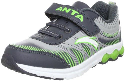 ANTA 安踏 跑步系列 男童 跑步鞋 灰/绿/白色 33 31245529-2