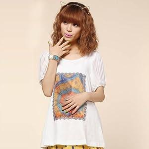 3春夏孕妇装 孕妇t恤 韩版短袖雪纺袖孕妇上衣32s219 l 白色 高清图片