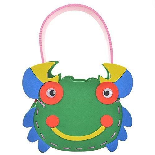 手工制作材料 diy手工材料幼儿 k1-10包包 手工包 (动物包包-螃蟹)