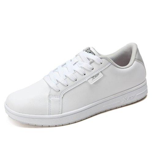 XTEP 特步 滑板鞋男鞋春季百搭休闲鞋白色板鞋TB986119329878
