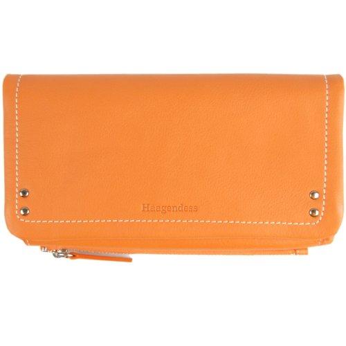 haagendess哈根德斯女士牛皮二折钱包(303305j)橙色