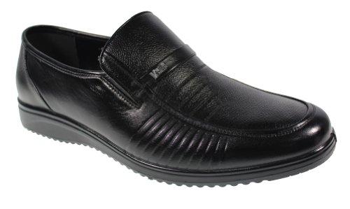 YEARCON 意尔康 日常休闲鞋真皮鞋粗纹男单鞋套脚男鞋子 25AE70129A-11
