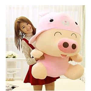 70厘米粉兔款造型毛绒玩具猪公仔猪可爱大号 麦兜猪公仔 娃娃