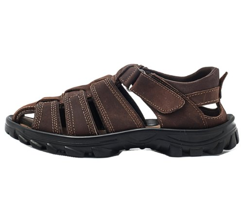 DEEWAHUA 户外新款凉鞋 头层牛皮 防水超纤 舒适透气 防滑耐磨底 夏季必备凉鞋 男凉鞋