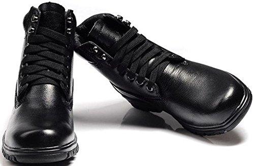 xiangguan 祥冠男士高帮登山鞋 加绒毛皮鞋 牛皮徒步鞋 休闲防水鞋