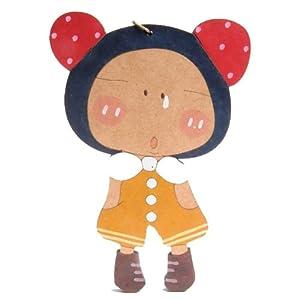sasa公主最新韩款超可爱热卖款环保木质钥匙扣多用挂件-妞妞羞嗒嗒