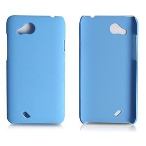 Benwis HTCt328d手机保护壳 t328d手机壳 t328d手机套 精致手感t328d炫彩套(天蓝色)