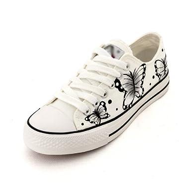 卜丁2013新款手绘鞋 涂鸦女鞋 手绘帆布鞋 布鞋 单鞋