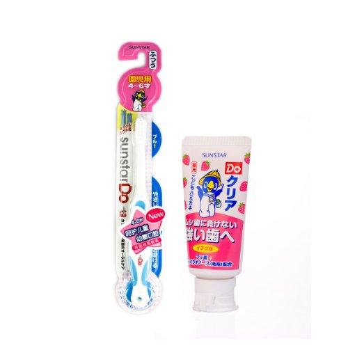 Ora2皓乐齿Do儿童牙刷 4 6岁适用 儿童牙膏 草莓味 50g