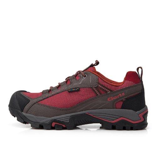 CLORTS 洛弛 新款男鞋女 透气防滑防水户外登山鞋低帮徒步鞋 3D023