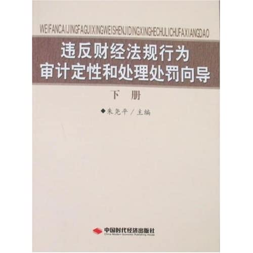 违反财经法规行为审计定性和处理处罚向导(下册)