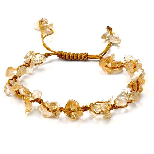 赛伊诺-天然黄水晶碎石手链-手工编织图片
