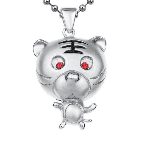lux-girl-925银镶水晶吊坠-小老虎(赠925银扣皮绳)图片