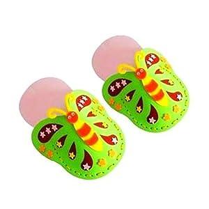 手工制作拖鞋凉鞋手工缝制粘贴画立体贴画玩具纯手工制作缝制蝴蝶
