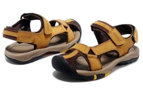 Deewahua 新款透气休闲包头 时尚潮流男士日常户外沙滩鞋 溯溪鞋 登山凉鞋 徒步鞋