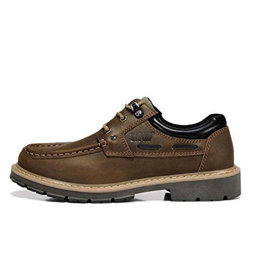 z.suo 英伦男士休闲鞋 真皮板鞋 大头皮鞋 低帮鞋 工装鞋 户外工作鞋 男休闲运动鞋