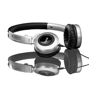AKG 爱科技 K430 封闭式头戴折叠耳机 银色 (震撼低频 新型线控 随意调节音量 单边耳线 让你行动更自如)