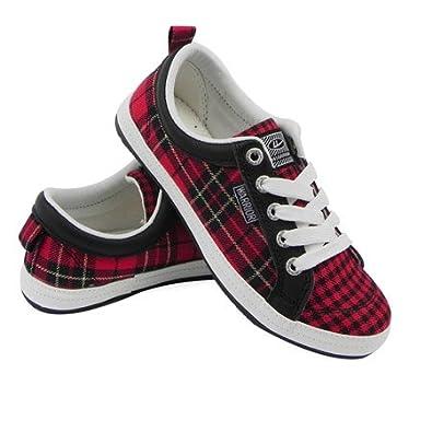 格子布休闲运动鞋